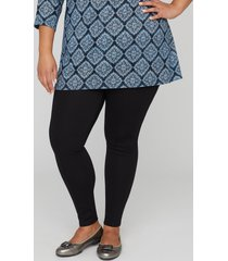 ponte knit legging with front seam