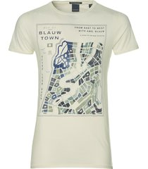 scotch & soda t-shirt - slim fit - ecru