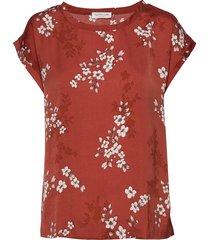 blouse ss blouses short-sleeved rood rosemunde