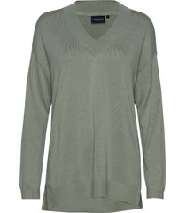 ana v-neck sweater gebreide trui groen lexington clothing