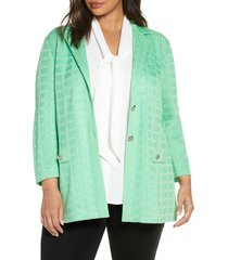 plus size women's ming wang check jacquard jacket
