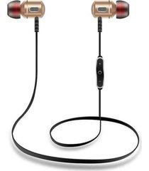audífonos bluetooth, s8 auriculares inalámbricos para el oído del deporte auriculares de metal anti-sudor auriculares audifonos bluetooth manos libres  v4.1 1 para 2 teléfonos con micrófono (oro)