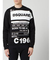 dsquared2 men's born to fight sweatshirt - black - xl
