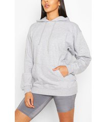 basic oversized hoodie, grey