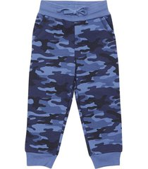 pantalon buzo bebo i azul militar corona