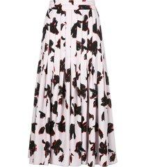 iris floral pleated skirt