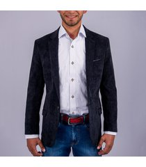 blazer casual pana para hombre pierre d'agostiny negro