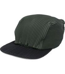 homme plissé issey miyake pleated cap - green