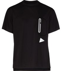 and wander reflective logo patch t-shirt - black