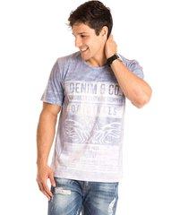 camiseta masculina denim & co total sublimada - area verde