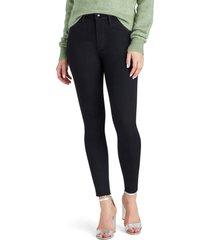 women's sam edelman stiletto high waist fray hem ankle jeans, size 28 - black