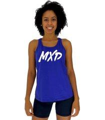 regata feminina alto conceito letreiro classic mxd azul royal