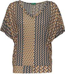 t-shirt blouses short-sleeved multi/mönstrad united colors of benetton