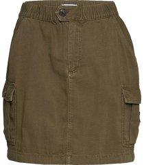 short cargo skirt ol kort kjol grön tommy jeans