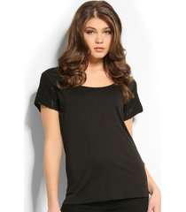 9996 marice knit top - guess - t-shirts - zwart