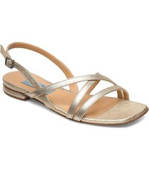 string flat square shoes summer shoes flat sandals guld apair