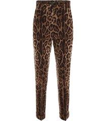 dolce & gabbana leopard-printed trousers