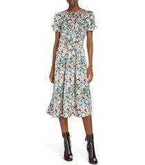 women's marc jacobs the 40s floral print silk midi dress, size 4 - pink
