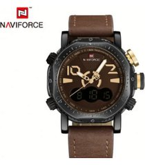 reloj hombre deportivo naviforce  dual - cafe