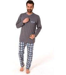 heren pyjama trend 10414-50-blauw