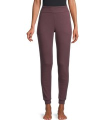 commando women's pocket jogger pants - merlot - size m