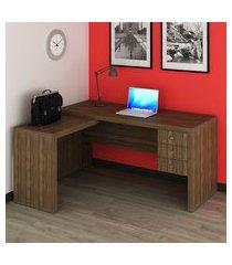 mesa para escritório tecno mobili me4106 3 gavetas