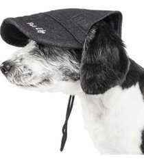 pet life 'cap-tivating' uv protectant adjustable fashion dog hat cap
