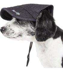 pet life 'cap-tivating' uv protectant adjustable fashion dog hat cap
