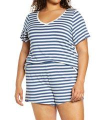 plus size women's nordstrom moonlight dream short pajamas, size 3x - blue