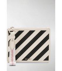 off-white diagonal stripes pouch