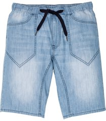 bermuda in jeans con cinta elastica regular fit (blu) - rainbow