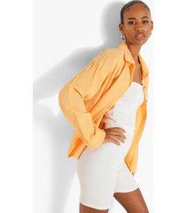 oversized blouse met textuur, peach