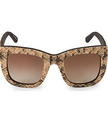 48mm snake-print semi cat eye sunglasses