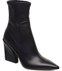 kristin bootie 90-c shoes boots ankle boots ankle boots with heel svart boss