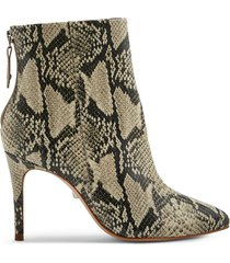 michela bootie - 5.5 natural snake snake embossed leather