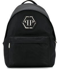 philipp plein satin-shell backpack - black