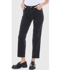 jeans wados negro - calce holgado