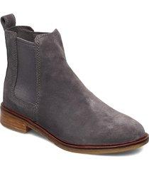 clarkdale arlo shoes chelsea boots grå clarks
