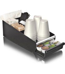 mind reader coffee condiment storage organizer with k-cup single serve coffee pod drawer