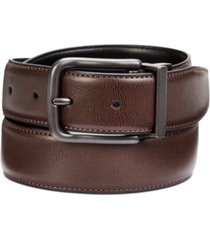 perry ellis men's feather-edge reversible leather belt