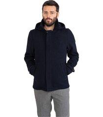 coat with zip and hood