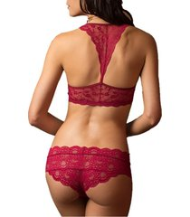 brasier tipo top rojo jessie de la rosa lingerie para mujer - cereza