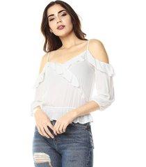 blusa blanco hueso ambiance