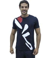 camiseta azul fila t shirt diagonal