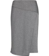 sc-amaja knälång kjol grå soyaconcept