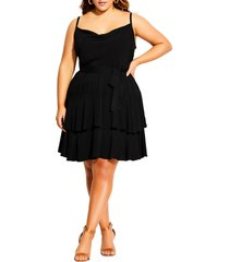 plus size women's city chic mini frill dress