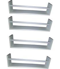 kit com 4 revisteiro de parede organibox montessoriano - tricae