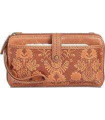 the sak iris smartphone leather crossbody wallet