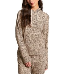 volcom juniors' cheetah-print hoodie