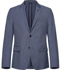 summer melange stretch blazer blazer colbert blauw calvin klein